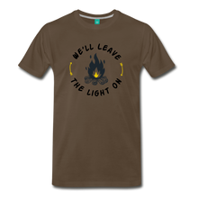 Load image into Gallery viewer, Men's We'll Leave the Light On T-Shirt - noble brown