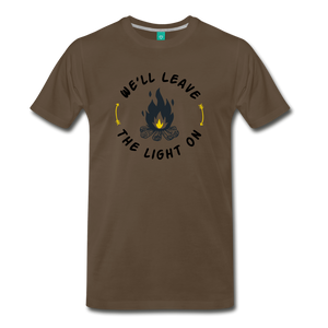 Men's We'll Leave the Light On T-Shirt - noble brown