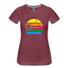 Load image into Gallery viewer, Women's Faded Banjo Rainbow T-Shirt - heather burgundy