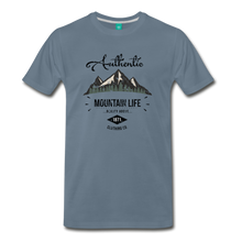 Load image into Gallery viewer, Men's Dark Authentic Mountain Life Clothing Co. T-Shirt - steel blue