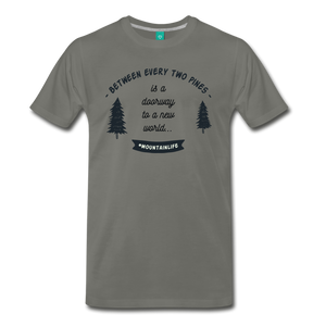Men's Between Every Two Pines T-Shirt - asphalt