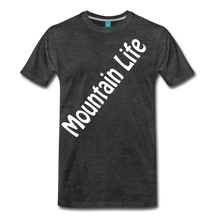 Load image into Gallery viewer, Men's Diagonal Mountain Life T-Shirt - charcoal gray