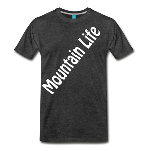 Men's Diagonal Mountain Life T-Shirt - charcoal gray