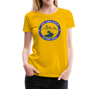 Women's Obstacle is the Way T-Shirt - sun yellow