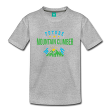 Load image into Gallery viewer, Toddler Future Mountain Climber T-Shirt - heather gray