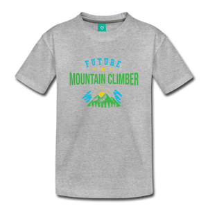 Toddler Future Mountain Climber T-Shirt - heather gray