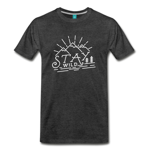 Men's Stay Wild T-Shirt (white) - charcoal gray