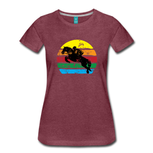 Load image into Gallery viewer, Women's Jumping Sun T-Shirt - heather burgundy