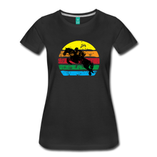 Load image into Gallery viewer, Women's Jumping Sun T-Shirt - black
