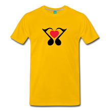 Load image into Gallery viewer, Men's Heart Music Note T-Shirt - sun yellow