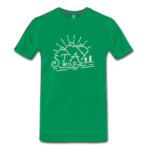 Load image into Gallery viewer, Men's Stay Wild T-Shirt (white) - kelly green