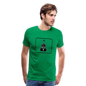 Men's Upright Bass  Icon T-Shirt - kelly green