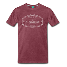 Load image into Gallery viewer, Men's The Bluegrass Cafe (music is life) T-Shirt - heather burgundy