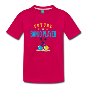 Kids' Future Banjo Player T-Shirt - dark pink