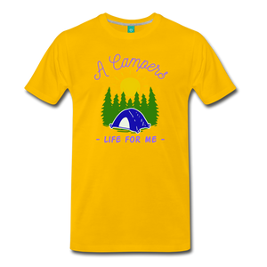 Men's Campers Life T-Shirt - sun yellow