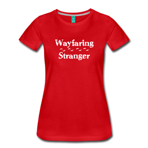 Women's Wayfaring Stranger T-Shirt - red