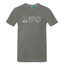 Load image into Gallery viewer, Men's Horse Symbols T-Shirt - asphalt gray