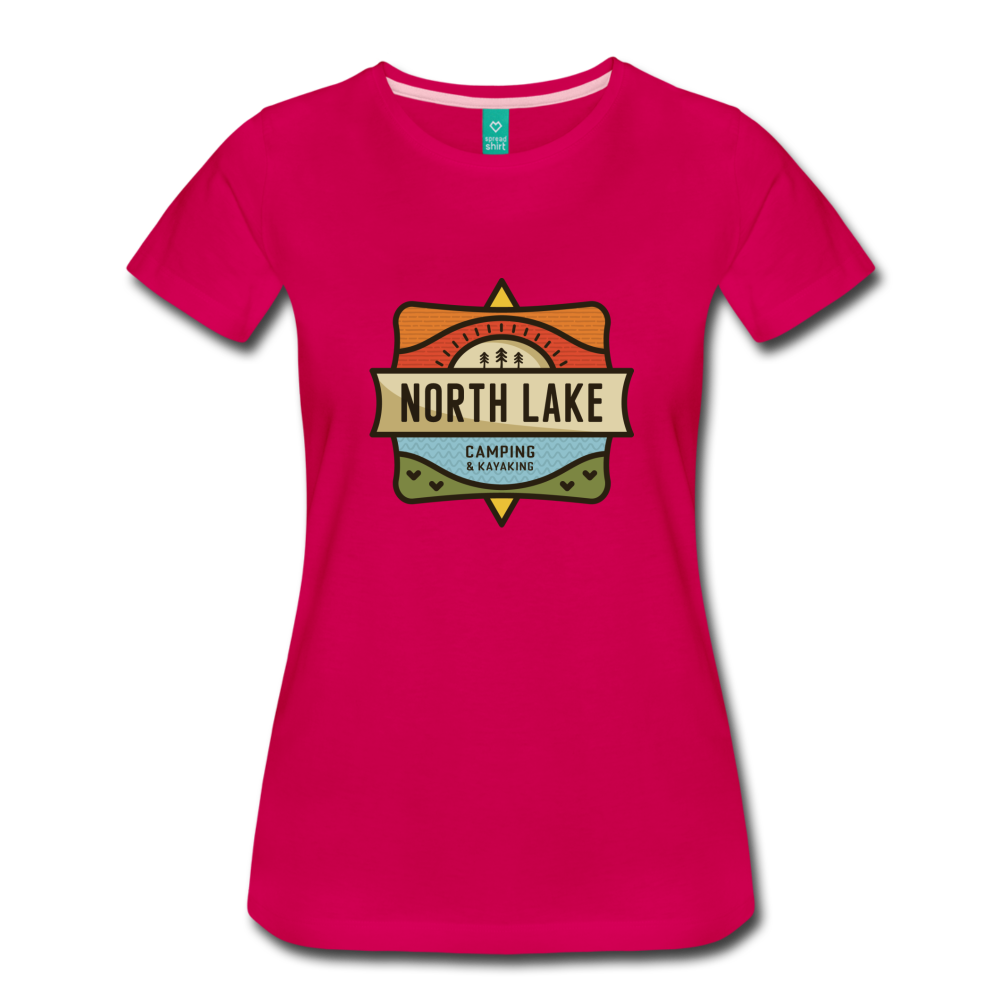 Women's North Lake T-Shirt - dark pink