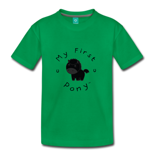 Kids' My First Pony T-Shirt (black) - kelly green
