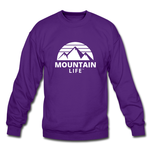 Mountain Life Sweatshirt (white) - purple