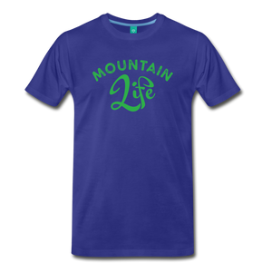 Men's Mountain Life (script) T-Shirt - royal blue