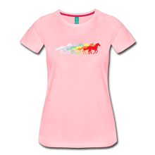 Load image into Gallery viewer, Women's Retro Rainbow Horse T-Shirt - pink