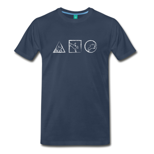 Men's Horse Symbols T-Shirt - navy