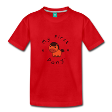 Load image into Gallery viewer, Toddler My First Pony T-Shirt (red) - red