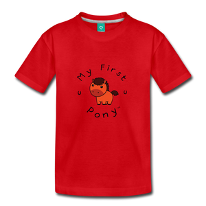 Toddler My First Pony T-Shirt (red) - red