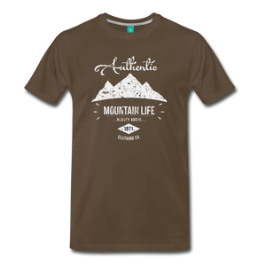 Men's Authentic Mountain Clothing Co. T-Shirt - noble brown