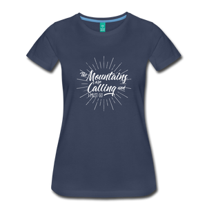 Women's Mountain Calling T-Shirt (white) - navy
