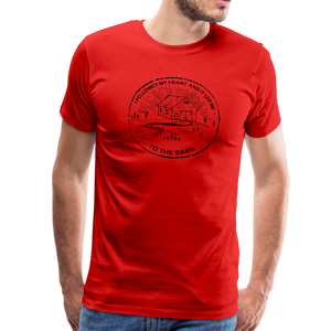 Men's Followed My Heart (distressed) T-Shirt - red