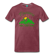 Load image into Gallery viewer, Men's Mountains Feel Like Home T-Shirt - heather burgundy