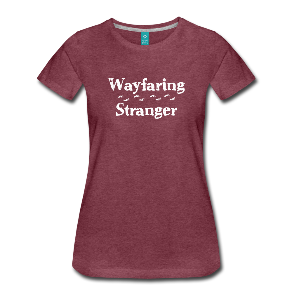 Women's Wayfaring Stranger T-Shirt - heather burgundy
