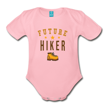 Load image into Gallery viewer, Future Hiker Baby Bodysuit - light pink