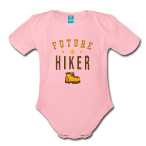 Future Hiker Baby Bodysuit - light pink