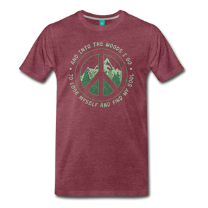Men's Into the Woods I Go T-Shirt - heather burgundy