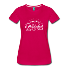 Load image into Gallery viewer, Women's Wanderlust T-Shirt (white) - dark pink