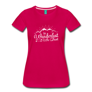 Women's Wanderlust T-Shirt (white) - dark pink