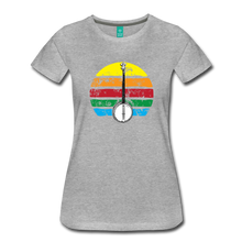 Load image into Gallery viewer, Women's Banjo Rainbow T-Shirt - heather gray