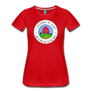Women's Followed my Heart (colored) T-Shirt - red