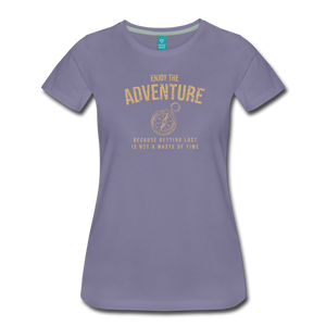 Women's Enjoy the Adventure T-Shirt - washed violet