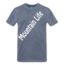Load image into Gallery viewer, Men's Diagonal Mountain Life T-Shirt - heather blue