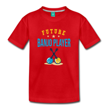 Load image into Gallery viewer, Toddler Future Banjo Player T-Shirt - red