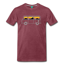 Load image into Gallery viewer, Men's Van Mountains T-Shirt - heather burgundy