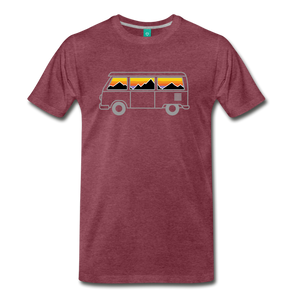 Men's Van Mountains T-Shirt - heather burgundy