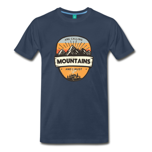 Men's Mountain's Calling T-Shirt - navy