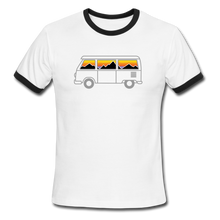 Load image into Gallery viewer, Men's Ringer Van Mountains T-Shirt - white/black
