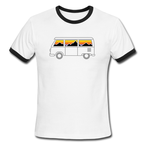 Men's Ringer Van Mountains T-Shirt - white/black