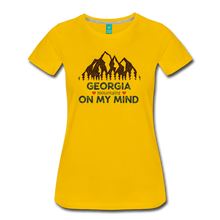 Load image into Gallery viewer, Women's Georgia on my Mind T-Shirt - sun yellow